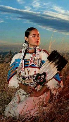 Beautiful Native American woman.
