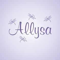 Girl Name Personalized Wall Decal with Dragonflies Nursery Room Decor Vinyl Sticker. $24.50, via Etsy.