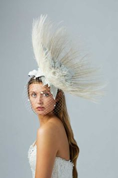 MILLINER: CARRIE JENKINSON - This stunning piece is a sample of Carrie Jenkinson #Millinery bridal range  #HatAcademy