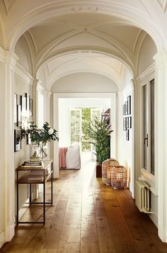 Entry Hallin the home of interior designer Meritxell Ribe. Beautiful.