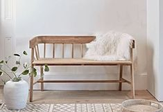 welcoming hallway bench seats with backrests cox and cox affiliate partner Hallway Bench Seat, Dinning Room Bench, Small Bench Seat, Wooden Bench Seat, Hallway Seating, Hall Bench, Living Room Seating, Small Living Rooms, Indoor Bench Seat