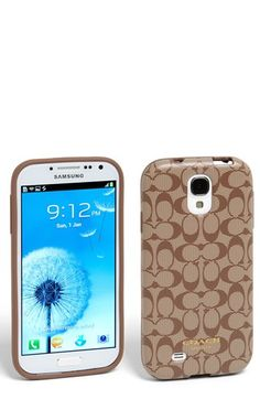 COACH 'Signature' Samsung Galaxy S® 4 Case | So have to get this when I get my new phone.