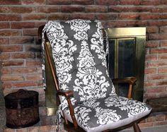 Custom Buck Forest Rocking Chair Cushions by MayberryandMain