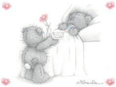 It was so sweet of her. I love anything Tatty Teddy. Do you know there is a story behind the blue-nosed bear? In the beginning, the bear was loved by. Teddy Images, Teddy Photos, Teddy Bear Pictures, Cute Images, Cute Pictures, Tatty Teddy, Art D'ours, Blue Nose Friends, Bear Illustration