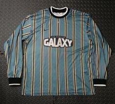b39c76128 Men s Vintage LA Galaxy Stripe Soccer Nike Jersey SZ XL Multi Color
