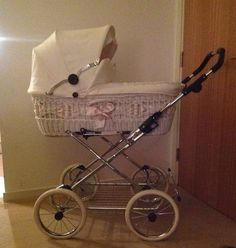 Eichorn Leather And Wicker Pram |