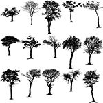 Nature Tree Silhouettes Vector Clip Art Images