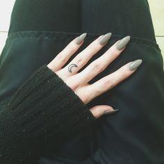 crescent moon ring tattoo