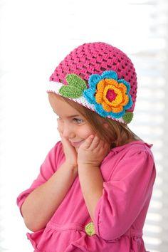 Pretty crochet hat.