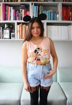 90s Disney Minnie Mouse Cropped Sleeveless T-shirt UK 10 £24.99