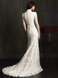 Allure Bridals M505 Modest Lace Wedding Dress