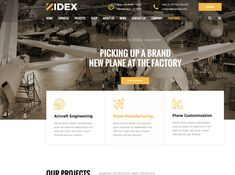 Zidex - Industrial & Factory WordPress Theme by ModelTheme on Dribbble Industrial Welding, Beer Factory, Machine Service, Us Companies, Service Projects, Wordpress Theme, Industrial Industry, Engineering, Commercial Construction