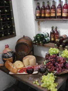 1:12th scale miniature wine cellar detail ... http://www.ivanigrande.blogspot.com.br/