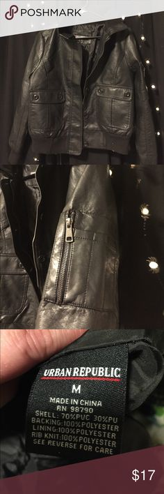urban republic collection faux leather jacket Brand new without tags. Cute jacket. Urban Republic Jackets & Coats