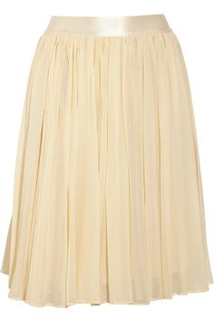 See by Chloé's light-as-air ivory cotton and silk-blend georgette skirt will soften your wardrobe with a hint of ethereal elegance