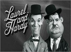 Rob Snow | caricatures - Laurel and Hardy art | decor | wall art | inspiration | caricatures | home decor | idea | humor | gifts