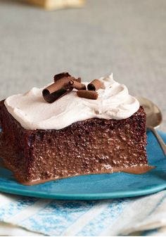 Triple Chocolate Tres Leches Cake – According to the recipe name, this cake's got three chocolates and three milks. In cake math, that adds up to a five-star dessert!
