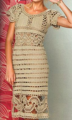 Crochet dress exquisite design PATTERN only by FavoritePATTERNs, $2.50