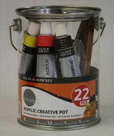 Acryl Creativ Pot 22 Teile Daler-Rowney [126 500 150] - €8.80 : Alois Ebeseder, Wien, Künstler- Mal- und Zeichenbedarf Four Square, Container, Creative, Creativity