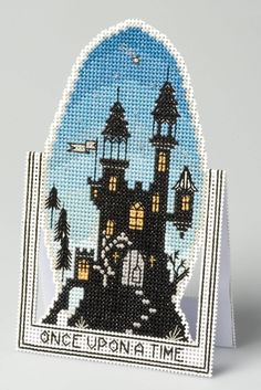 Amazon.com: The Nutmeg Company Once Upon A Time 3D Cross Stitch Card Kit: Posters & Prints