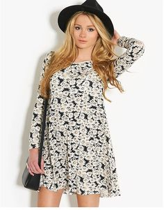 BLONDE & BLONDE Daisy Swing Dress Womens Swing Dress, Bank Fashion, Easter Outfit, Daisy, Long Sleeve, Casual, Outfits, Clothes, Shopping
