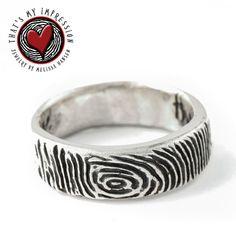 Custom Mens Sterling Silver Fingerprint by ThatsMyImpression