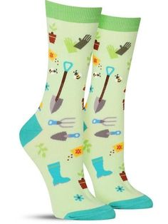 The Sock Drawer's unique selection of women's fun and colorful socks in every size and shape imaginable will breathe life into your wardrobe! Shop now! Funky Socks, Crazy Socks, Colorful Socks, Fall Socks, Socks World, Fishnet Socks, Green Socks, Unique Socks, Favors