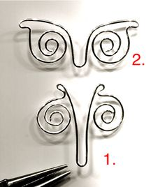 Nice tutorial from WireWorkers Guild on creating a nice wire butterfly.                                                                                                                                                                                 More