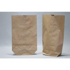 Papieren Zakken Kruisbodem Bruin Kraft - 1 laags 70 grs (inhoud 0.5kg) 14x22 cm (100 stuks) [PAK1412]