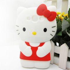 Cuties 3D RED CAT Samsung Galaxy S3 III i9300 Silicone Case Cover - Galaxy S3 Silicone Cases - Galaxy S3 Cases