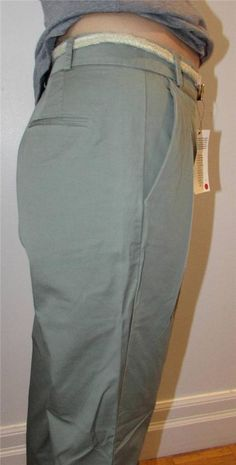 Women Zara Basic Capri Cropped Trouser Relaxed Fit Pleated with Belt sz L NWT