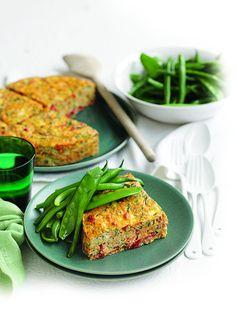 Kumara, courgette and herb frittata