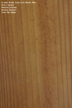 A select grade option finished with a stain and tung oil finish.