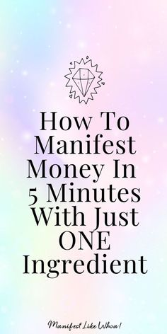 Wow manifesting money fast is so easy with the secret manifesting ritual. It's like a magic spell for beginners who want to manifest money, manifest s Manifestation Journal, Manifestation Law Of Attraction, Law Of Attraction Affirmations, Law Of Attraction Money, Law Of Attraction Quotes, Attraction Spells, Money Affirmations, Positive Affirmations, Prosperity Affirmations