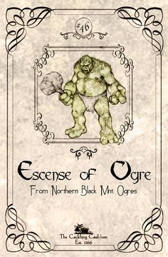 Escence-of-Oger-Label (a_granger) Tags: autumn halloween book magick label magic spell haunted labels apothecary cauldron charms potions spells potion cackling halloweendecorations curses spellbook hexes apothecarylabels potionlabels Halloween Apothecary Labels, Halloween Bottle Labels, Halloween Potions, Halloween Books, Halloween Prints, Halloween Signs, Holidays Halloween, Vintage Halloween, Fall Halloween