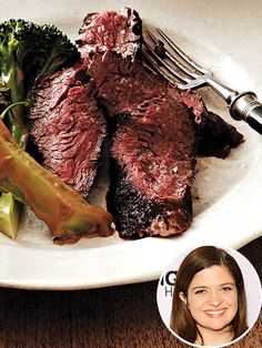 Alex Guarnaschelli's Seared Hanger Steak with Broccoli