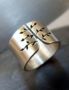 Spring Tree Sterling Silver Ring