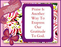 Christian Images In My Treasure Box: Gratitude to God-