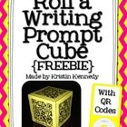 Roll a Writing Prompt Cube FREEBIE {With QR Codes}