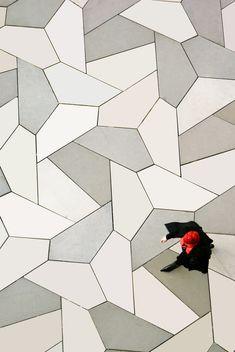 Pavement Tessellations - David Bailey's World of Escher-like Tessellations Geometric Inspiration Floor Design, Tile Design, Pattern Design, Floor Patterns, Textures Patterns, Pavement Design, Paving Pattern, Paving Design, Tesselations