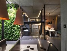 Amazing eclectic design studio and showroom belonging to Kiev, Ukraine - based Sergey Makhno. Description by gey Makhno's Office and Showroom Minimalism with loft elements and warm notes of Ukrai Loft Office, Office Workspace, Office Meeting, Meeting Rooms, Interior Work, Office Interior Design, Office Designs, Office Ideas, Office Decor