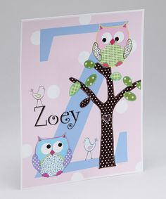 Owl in Tree Personalized Print