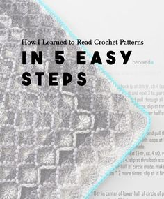 How I Learned To Read Crochet Patterns In 5 Easy Steps by B Hooked Crochet!