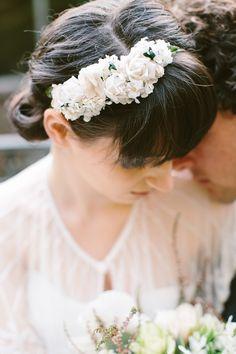 white floral headband // photo by Luisa Brimble