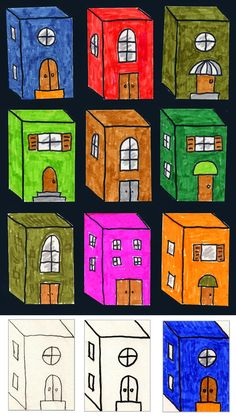 3D City Buildings.  Provide kids with 3D shape on paper and allow them to create something out of it.