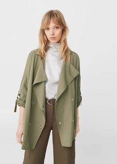Tencel® trench -  Women | MANGO USA