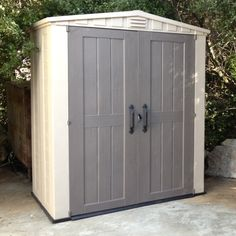 Keter Factor 6 x 3 ft. Storage Shed - Not only is the Keter Factor 6 x 3 ft. Storage Shed a perfect place for yard supplies and outdoor equipment, it could be the first step to reclaiming...