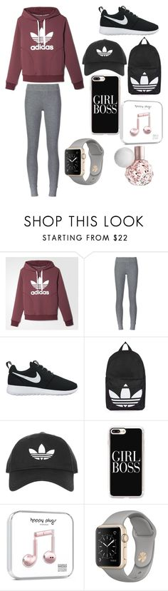 """Work out"" by najdovrenata ❤ liked on Polyvore featuring adidas, ATM by Anthony Thomas Melillo, NIKE, Topshop and Casetify"