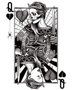 OG Abel Queen of Hearts #half_heart_tattoo