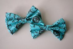 Blue Whimsical Bow Duo  $5.00  Free Shipping With Coupon- INSTABOW
